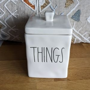 NWT Rae Dunn square Things container